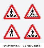 set of school zone street or... | Shutterstock .eps vector #1178925856