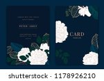 navy and dark green wedding... | Shutterstock .eps vector #1178926210