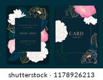 navy and dark green wedding... | Shutterstock .eps vector #1178926213