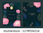 navy and dark green wedding... | Shutterstock .eps vector #1178926216