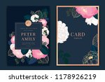 navy and dark green wedding... | Shutterstock .eps vector #1178926219