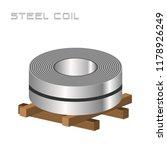 single slitting rolled steel...   Shutterstock .eps vector #1178926249