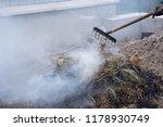 smoldering ashes of a bonfire.... | Shutterstock . vector #1178930749