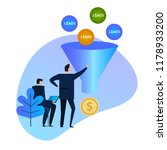 leads generation. sales funnel. ... | Shutterstock .eps vector #1178933200