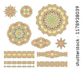 set of ornamental decorative... | Shutterstock .eps vector #1178938039
