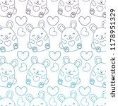 degraded outline cute female... | Shutterstock .eps vector #1178951329