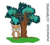nice deer wild animal and tree   Shutterstock .eps vector #1178954956
