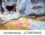 business adviser analyzing... | Shutterstock . vector #1178955463