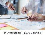 business adviser analyzing... | Shutterstock . vector #1178955466