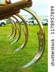 closeup of cultivator tines | Shutterstock . vector #1178957899