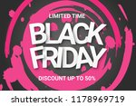black friday sale banner.... | Shutterstock .eps vector #1178969719