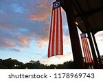 American Flag Banners Hanging...