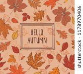 hello autumn. background with... | Shutterstock .eps vector #1178970406