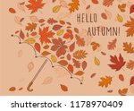 hello autumn  background with... | Shutterstock .eps vector #1178970409