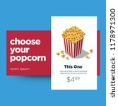 choose your popcorn box ux ui... | Shutterstock .eps vector #1178971300