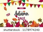 autumn sale background vector... | Shutterstock .eps vector #1178974240