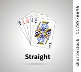straight poker combination with ... | Shutterstock .eps vector #1178976646
