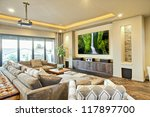 entertainment room in luxury... | Shutterstock . vector #117897700