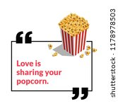 love is sharing your popcorn... | Shutterstock .eps vector #1178978503