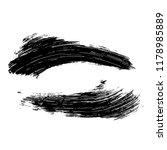 grunge hand drawn paint brush.... | Shutterstock .eps vector #1178985889
