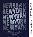 newyork vector graphic | Shutterstock .eps vector #1178994316