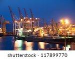 night port and ship | Shutterstock . vector #117899770