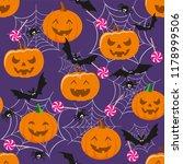 halloween holiday  seamless... | Shutterstock .eps vector #1178999506
