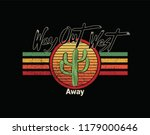 way out west and cactus with...   Shutterstock .eps vector #1179000646