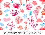 colorful coral reef. seamless... | Shutterstock .eps vector #1179002749