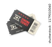 realistic cinema ticket icon in ... | Shutterstock .eps vector #1179010060