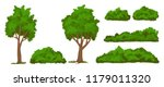vector trees and bushes set...   Shutterstock .eps vector #1179011320