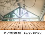 wood table on blur background... | Shutterstock . vector #1179015490