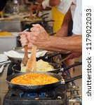 cooking frico  the typical... | Shutterstock . vector #1179022033