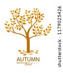 autumn tree with colorful...   Shutterstock .eps vector #1179025426