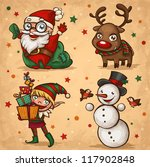 christmas characters | Shutterstock .eps vector #117902848