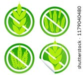 gluten free food label stamps | Shutterstock . vector #1179040480