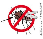 cartoon mosquito repellent sign | Shutterstock . vector #1179040489