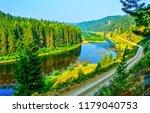 forest river landscape....   Shutterstock . vector #1179040753