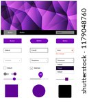 light purple vector ui ux kit...