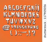 alphabet design modern style ... | Shutterstock .eps vector #117905056
