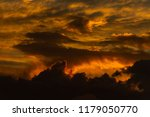dramatic golden sky at the... | Shutterstock . vector #1179050770