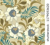 elegance pattern with flowers... | Shutterstock .eps vector #1179053620