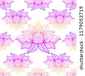 lotus flower sacred geometry... | Shutterstock .eps vector #1179053719