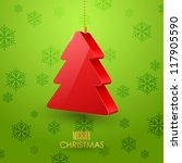 christmas background | Shutterstock .eps vector #117905590