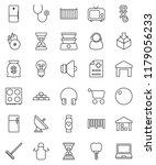 thin line vector icon set  ... | Shutterstock .eps vector #1179056233