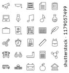 thin line vector icon set  ... | Shutterstock .eps vector #1179057499