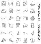 thin line vector icon set  ... | Shutterstock .eps vector #1179057589