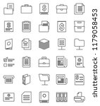 thin line vector icon set  ... | Shutterstock .eps vector #1179058453