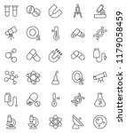 thin line vector icon set  ... | Shutterstock .eps vector #1179058459