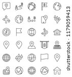 thin line vector icon set  ... | Shutterstock .eps vector #1179059413